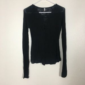 Free People Intimately Black Long Sleeve